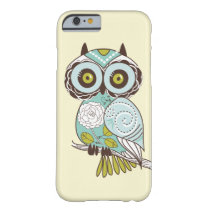 Cute Fancy Retro Groovy Owl Custom iPhone 6 Case
