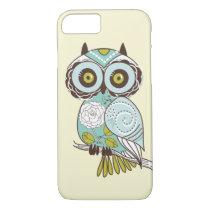 Cute Fancy Retro Groovy Owl Custom iPhone 7 Case