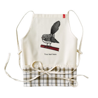 Cute Fantail New Zealand And  Australasian Bird Zazzle HEART Apron
