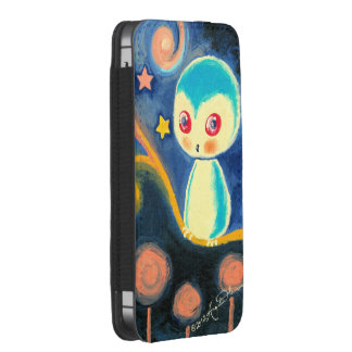 Cute Fantasy Blue Owl With Stars iPhone 5 Pouch