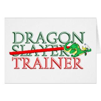 Cute Fantasy Dragon Slayer Trainer Card