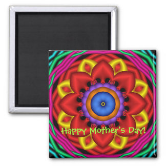 Cute fantasy flower Mother's day magnet