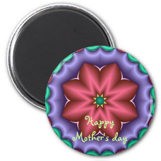 Cute fantasy flower Mother's day magnet with text