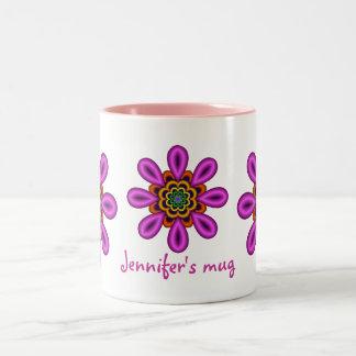 Cute fantasy flower mug with text