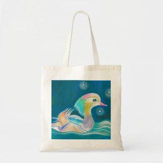 Cute Fantasy Mandarin Duck Painting Tote Bags