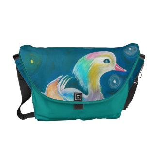 Cute Fantasy Mandarin Duck Painting Commuter Bags