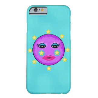 Cute Fantasy Purple Moon Face Stars Barely There iPhone 6 Case