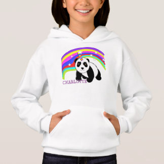 Cute Fantasy Rainbow Panda Unicorn Personalized Hoodie