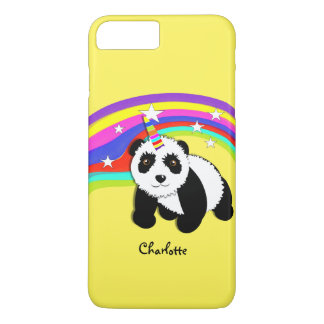Cute Fantasy Rainbow Panda Unicorn Personalized iPhone 8 Plus/7 Plus Case