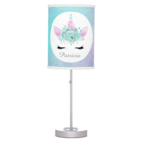 Cute Fantasy unicorn add name lamp