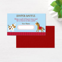 Cute Farm Animal Diaper Raffle Tickets