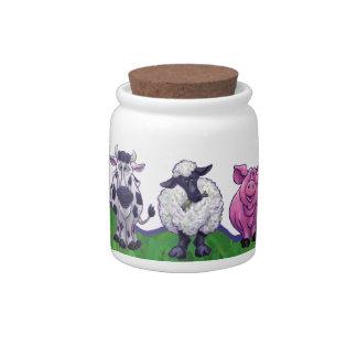 Cute Farm Animal Goody Jar