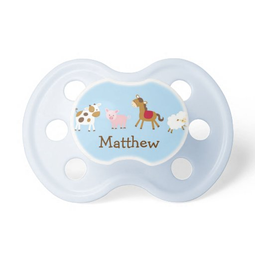 Cute Farm Animal Pacifier