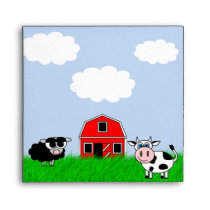 Cute Farm Animals Custom Invitation Envelope