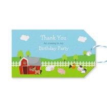 Cute Farm Animals Gift Tag