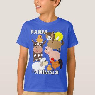 Cute Farm Animals Kids Whimsy Graphic T-Shirt