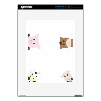 Cute Farm Animals Decals For The iPad