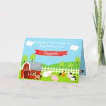 Cute Farm Animals Unisex Birthday Card