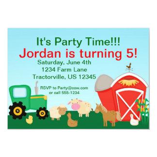 Cute Farm Birthday Party Invitation