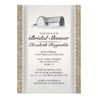 Cute Farm Bridal Shower Invitations Announcement