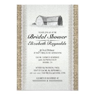 Cute Farm Bridal Shower Invitations