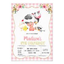 Cute farm girl party invitation