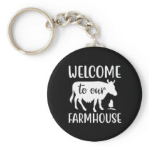 Cute Farm house welcome party Keychain