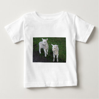 Cute Farm Ranch Baby Twins Sheep Lamb Baby T-Shirt