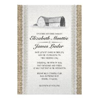 Cute Farm Wedding Invitations Cards