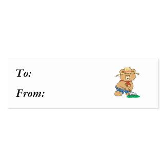 Cute Farmer Bear Business Card Templates