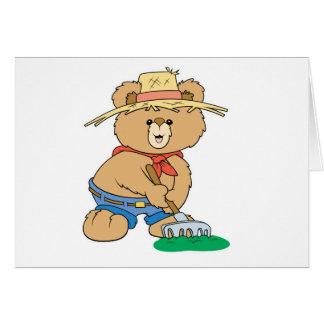 Cute Farmer Bear Card