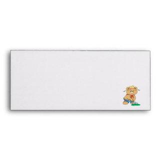 Cute Farmer Bear Envelope