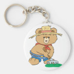 Cute Farmer Bear Keychain