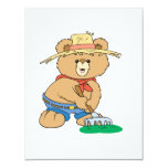 Cute Farmer Bear Personalized Invite