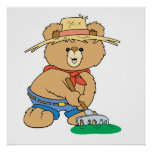 Cute Farmer Bear Poster