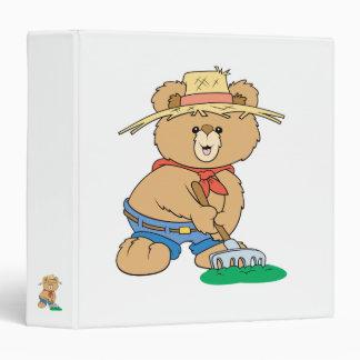 Cute Farmer Bear Vinyl Binders