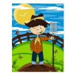 Cute Farmer Boy Postcards