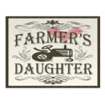 Cute Farmer's Daughter Postcard