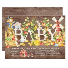 Cute Farmers Market Baby Shower Invitation