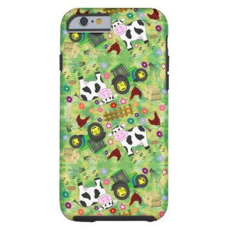 Cute Farmyard Cow Tough iPhone 6 Case