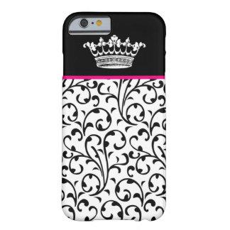 Cute Fashion Crown & Swirls iPhone 6 case B Pink