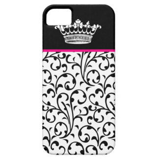 Cute Fashion Crown & Swirls iPhone Cover B Pink iPhone 5 Covers