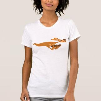 Cute Fast Cartoon Kangaroo Women T-Shirt