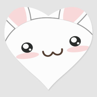 Cute Fat Bunny - Rabbit Adorable Fluffy Stickers
