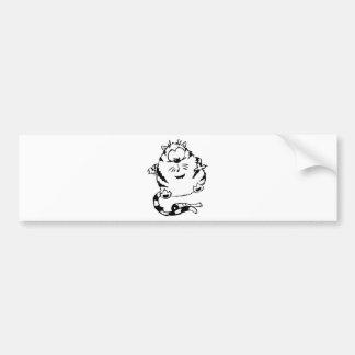 Cute Fat Cat Bumper Sticker