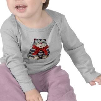 Cute Fat Cat Tee Shirt