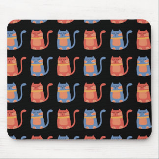 Cute Fat Cats in Pink and Blue Gifts for Cat Lover Mouse Pad