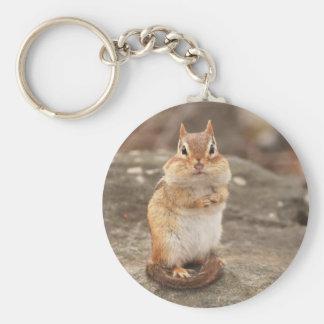 Cute Fat & Fluffy Chipmunk Keychain