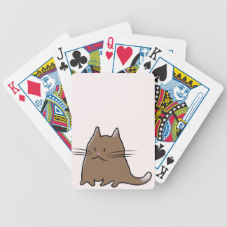 Cute Fat Kitty Cat Bicycle Playing Cards