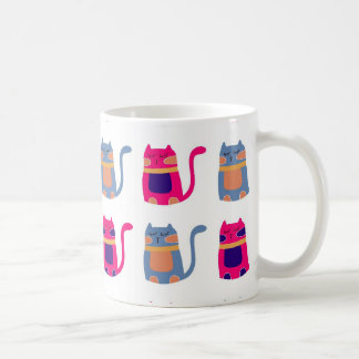 Cute Fat Kitty Cats Pink Melon Blue Unique Gifts Coffee Mug
